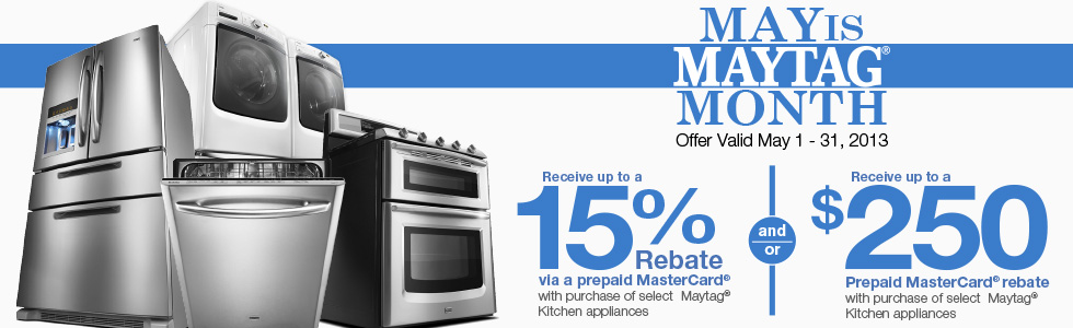 May is Maytag Month- Save up to $250